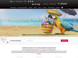 Website Printscreenhttps://www.hosttech.ch/